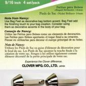 "Clover Bag Feet - Glossy Nickel 9/16"""