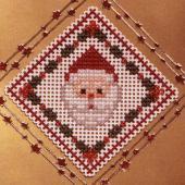 Santa Diamond - Pattern by Jill Oxton