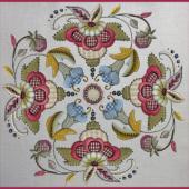 Jacobean Kit 24 by Hazel Blomkamp - Print/Special Threads/Beads