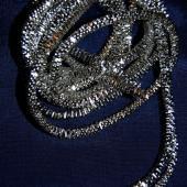 Silver Broad Check Sadi Thread