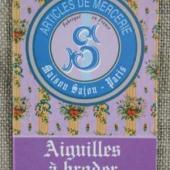 Sajou Six Embroidery Needles Sizes 22, 24 & 26 - Lilac
