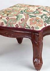 Hand carved wooden footstools