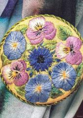 Embroidered Brooches available at Australian Needle Arts