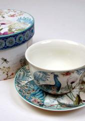 Bone China Cups and Saucers available from Australian Needle Arts
