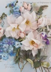 JK 1 Fuchsias, Roses & Delphiniums available from Australian Needle Arts