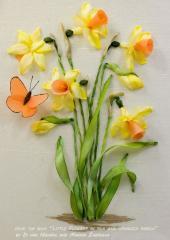 Little Flowers in Silk and Organza Ribbon by Di van Nierkek & Marina Zherdeva