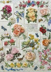 Rose Sampler by Di van Niekerk available from Australian Needle Arts